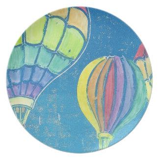 熱気の気球のプレート ディナープレート