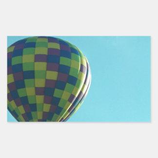 熱気の気球の乗車 長方形シール