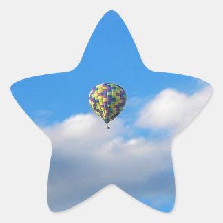 熱気の気球の乗車II 星シール