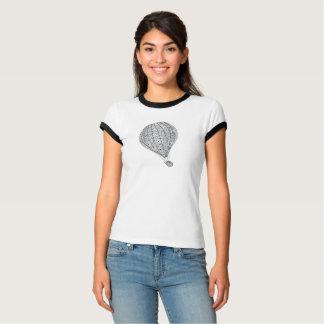 熱気の気球の元のデザインの子猫 Tシャツ