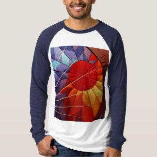 熱気の気球の写真のワイシャツ Tシャツ