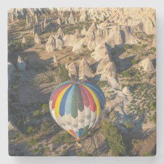 熱気の気球の空中写真、Cappadocia ストーンコースター