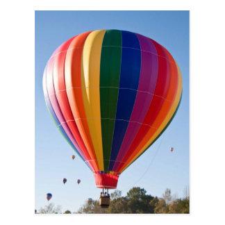 熱気の気球の郵便はがき ポストカード