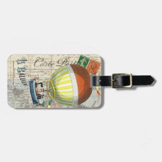 熱気の気球の郵便はがき ラゲッジタグ