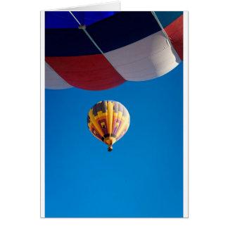 熱気の気球の青空アルバカーキニューメキシコ カード