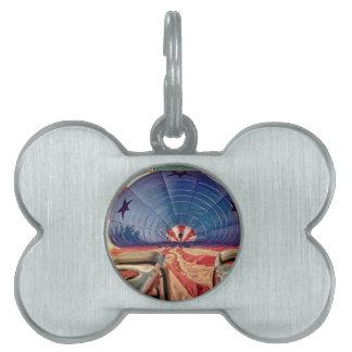 熱気の気球の風船のようにふくらむバーナー ペットネームタグ