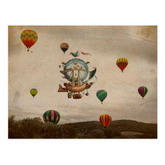 熱気の気球、スタイルのLaのMinerve 1803旅行 ポストカード