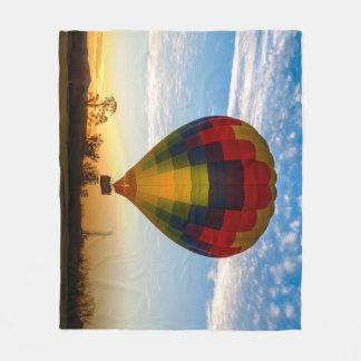 熱気の気球 フリースブランケット