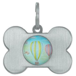 熱気の気球 ペットネームタグ