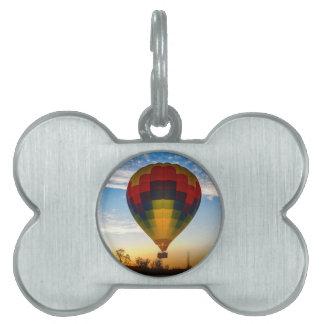 熱気の気球 ペットIDタグ