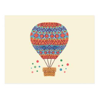 熱気の気球 ポストカード