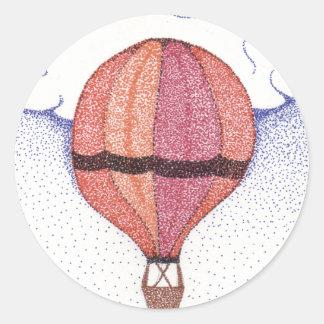 熱気の気球 ラウンドシール