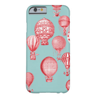 熱気は、ロビン卵の青で赤い飛行中に風船のようにふくらみます iPhone 6 ベアリーゼアケース