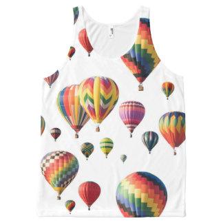 熱気球乗りのタンクトップのTシャツ オールオーバープリントタンクトップ