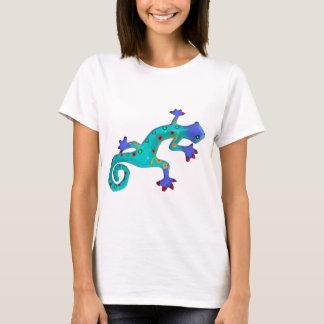 熱狂するでカラフルなトカゲ Tシャツ