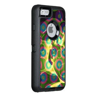 熱狂するでクールでサイケデリックな虹の抽象芸術 オッターボックスディフェンダーiPhoneケース