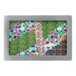 熱狂するで写実的な波のパッチワークの芸術のギフトnの挨拶 長方形ベルトバックル