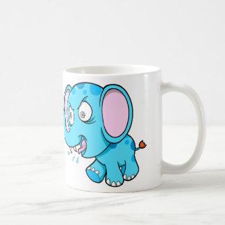 熱狂するで異常で青い象のコーヒー・マグ コーヒーマグカップ