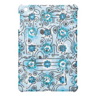 熱狂するで青い創造物のipadの箱 iPad mini case