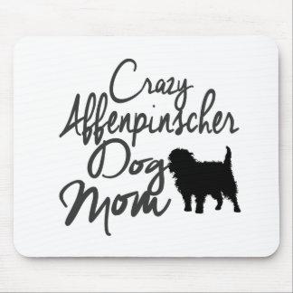 熱狂するなアーフェンピンシャー犬のお母さん マウスパッド