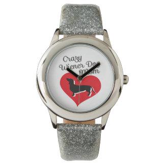 熱狂するなウインナー犬のお母さんI愛私のダックスフント 腕時計