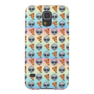熱狂するなエイリアン及びピザEmojiパターン Galaxy S5 ケース