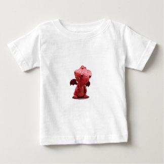 熱狂するなスマイルのおっちょこちょいのな飛んだ赤いドラゴン ベビーTシャツ