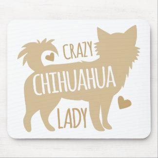 熱狂するなチワワの女性 マウスパッド