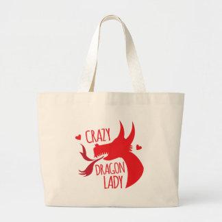 熱狂するなドラゴンの女性 ラージトートバッグ