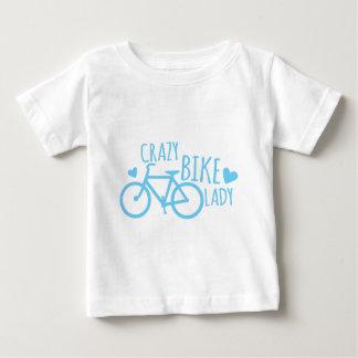 熱狂するなバイクの女性 ベビーTシャツ