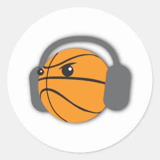 熱狂するなバスケットボール ラウンドシール