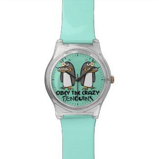 熱狂するなペンギンのグラフィック・デザインに従って下さい 腕時計