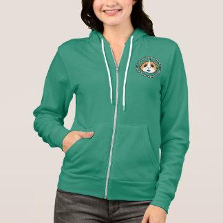 熱狂するなモルモットの女性の女性ジッパーのフード付きスウェットシャツ パーカ