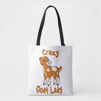 熱狂するなヤギの女性TotallyGoatally™著| トートバッグ