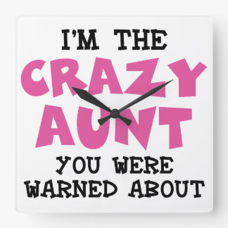 熱狂するな叔母さん スクエア壁時計