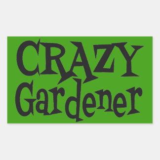 熱狂するな庭師 長方形シール
