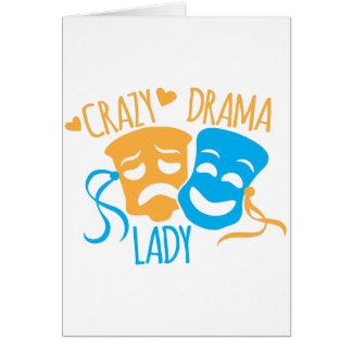 熱狂するな戯曲女性 グリーティングカード
