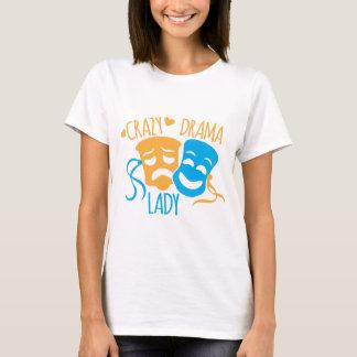 熱狂するな戯曲女性 Tシャツ