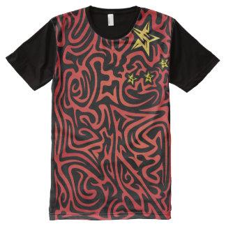 熱狂するな旗#45 オールオーバープリントT シャツ