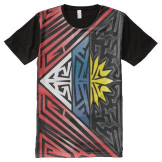 熱狂するな旗#8 オールオーバープリントT シャツ