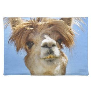 熱狂するな毛のアルパカ ランチョンマット
