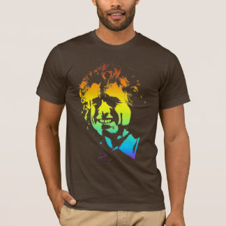 熱狂するな毛、スペクトルを搭載する人 Tシャツ