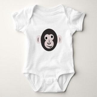 熱狂するな注目されたチンパンジーのTシャツ ベビーボディスーツ