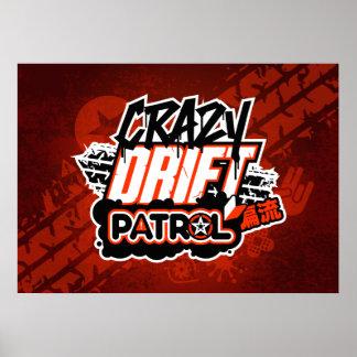 熱狂するな漂流のパトロールのロゴ(赤い) ポスター