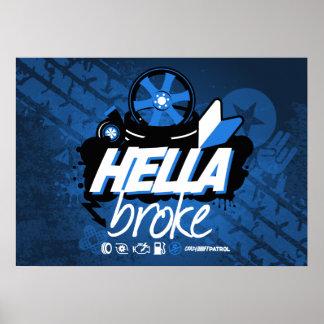 熱狂するな漂流のパトロール- Hellaは壊れました(青) ポスター