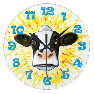 熱狂するな牛顔 ラージ壁時計
