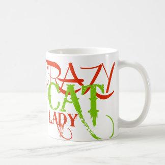 熱狂するな猫の女性 コーヒーマグカップ