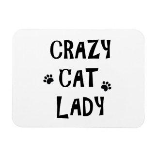 熱狂するな猫の女性 マグネット