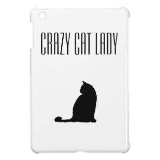 熱狂するな猫の女性Case Savvy Glossy iPad Miniケース
