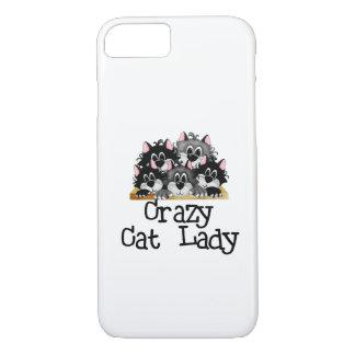 熱狂するな猫の女性iPhone 7の場合 iPhone 8/7ケース